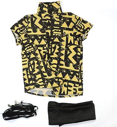 Girl Stranger Things 3 Eleven Shirt Cosplay Costume 11 Yellow Shirt Suspenders