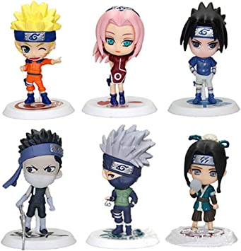 Amazon.com: LBJ Juego de 6 figuras de Naruto de Haku, Naruto ...