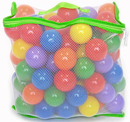 100 Wonder Playball Non-Toxic Crush Proof Quality Balls w/ Mesh (Baby Team Ball)