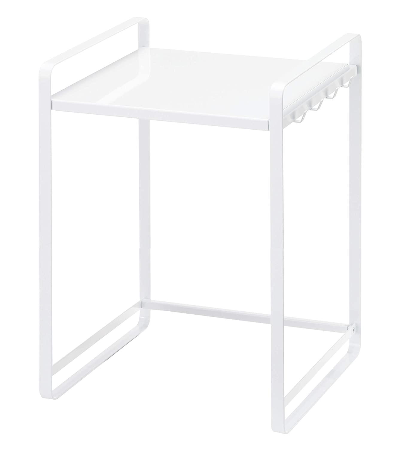 YAMAZAKI home Tower Expandable Kitchen Counter Organizer – Durable Storage Table Shelf, White