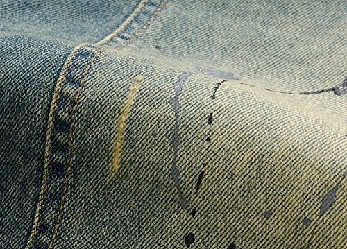 Giacca Maniche Jeans Giubbotto Denim Smanicato Cappotto Senza Vintage Laozan Blu Uomo A7dxZAn
