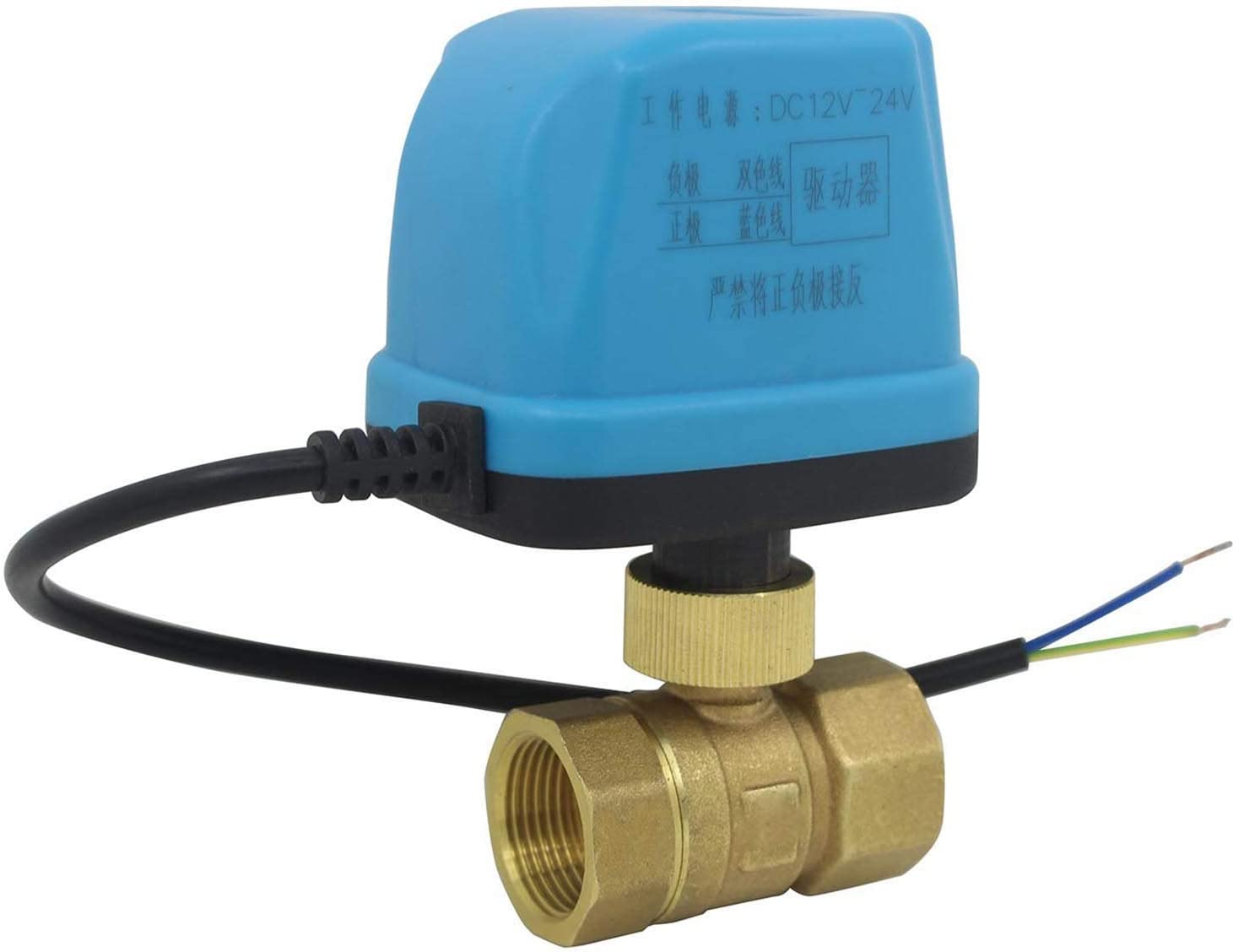 DN20-3//4 inch 1//2 3//4 1 1-1//4 1-1//2 2 inch 12v ~ 24v Normally Open Motorized Ball Valve 2 Way motorised Valve 2 Wires 1 Piece