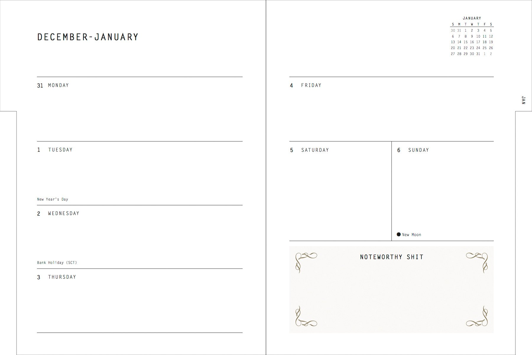 Fucking Brilliant 2019 12-Month Planner: Calligraphuck ...