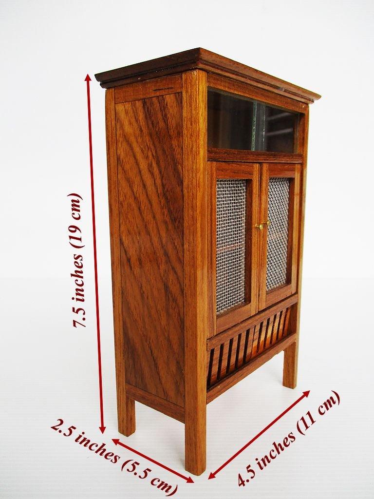 Mini Pantry Teak wood cabinet Thai vintage Cupboard furniture Carved Handmade by Panpob68