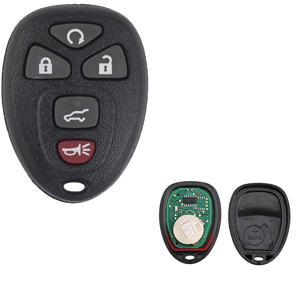 BESTHA 2 Key Fob Keyless Entry Remote OUC60270 OUC60221 15913415 for Chevrolet Suburban Tahoe Traverse GMC Acadia Yukon Saturn Outlook Cadillac Escalade SRX Buick Enclave