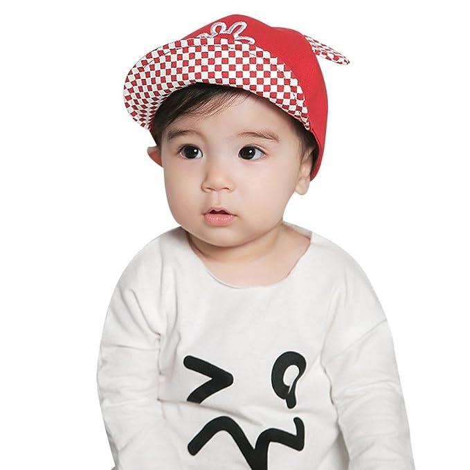 Amazon.com  Trendyest TrendyestBaby Boy Beret Baby Girls Sun Hat(Red ... ee342ce3867