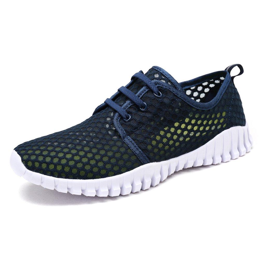KEESKY Quick Drying Water Shoes Mesh Aqua Shoes for Men and Women B079GVGZB4 13.5 B(M) US Women / 11.5 D(M) US Men|Blue