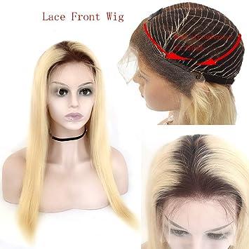 Amazon Com Amesha Hair 4t613 Blonde Ombre Color Lace Front Human
