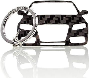 Blackstuff Carbon Karbonfaser Schlüsselanhänger Schlüsselbund Kompatibel Mit A4 S4 Rs4 B8 8k 2008 2012 Bs 847 Auto