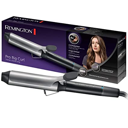 Remington Pro Big Curl CI5538 - Rizador de Pelo, Cerámica y Titanio, Pinza de