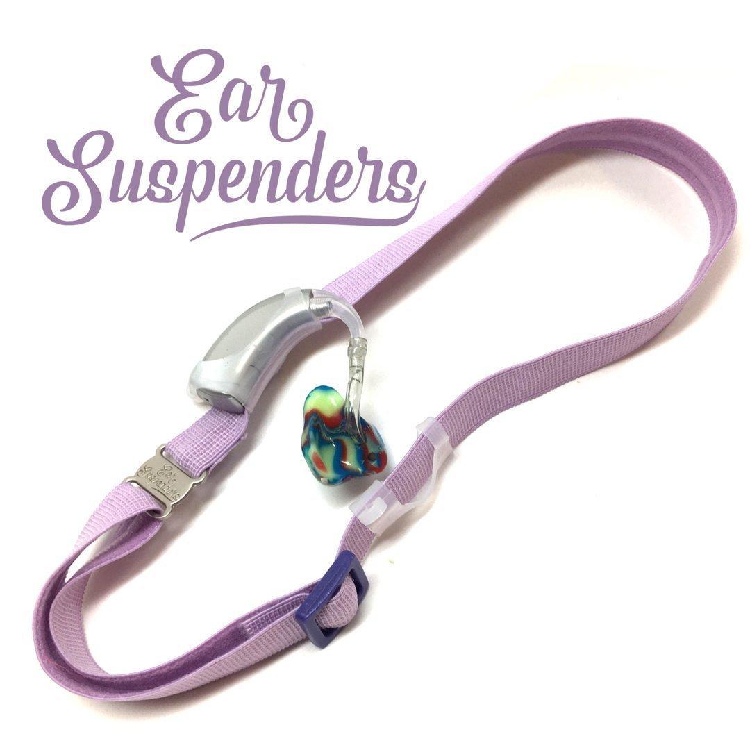 Ear Suspenders Headband for Hearing Aid Retention (Light Purple) by Ear Suspenders
