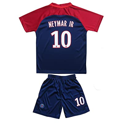 #10 Neymar Jr Paris Saint Germain PSG Home Blue Kids/Youth/Boys/Girls Soccer Jersey & Shorts Set
