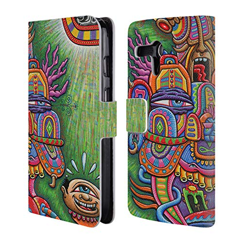 Official Chris Dyer Divine Comedian Web Monster Leather Book Wallet Case Cover for Motorola Moto G (1st - Moto G Monster Case