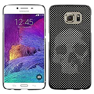 MobileHut / Samsung Galaxy S6 SM-G920 / Raster Skull Print Art Black Vignette / Delgado Negro Plástico caso cubierta Shell Armor Funda Case Cover