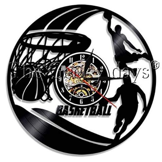 CQAZX Baloncesto Vintage Vinyl Record Reloj de Pared Baloncesto ...