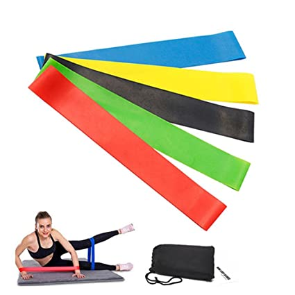Amazon Com Loop Resistance Bands Set Aolvo Latex Thick Exercise