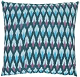 Safavieh 18-Inch Hawaii Pillow, Blue and Purple, Set of 2