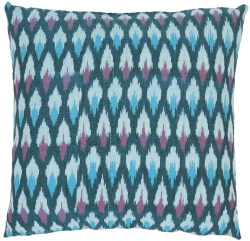 Safavieh 18-Inch Hawaii Pillow, Blue and Purple, Set of 2