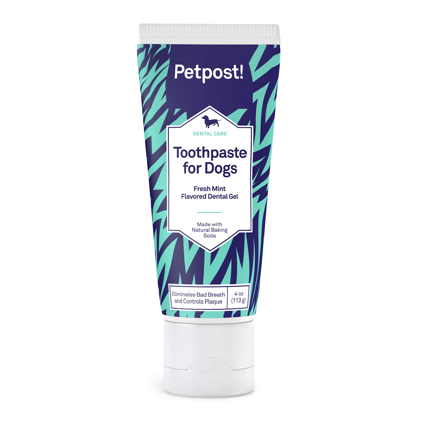 Petpost | Toothpaste for Dogs - Coconut Oil and Baking Soda Based Dental Gel That Naturally Kills Bad Breath - Plaque and Tooth Decay Gone - Mint Flavor (Mint Flavor, 4 oz.) by Petpost