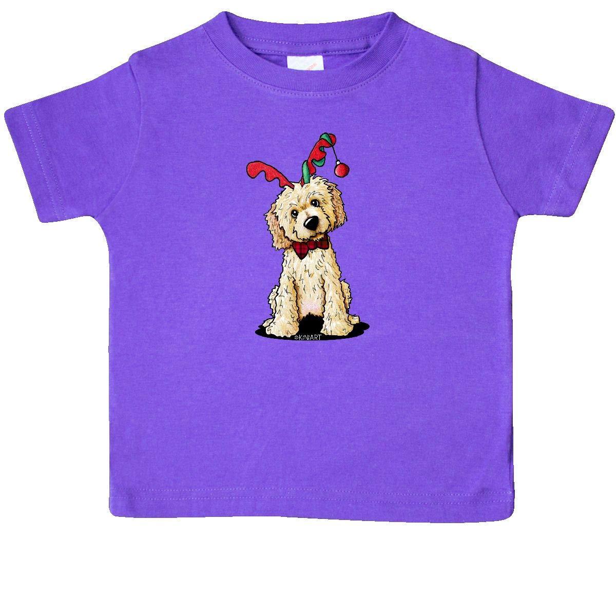 inktastic KiniArt Goldendoodle Reindeer Baby T-Shirt KiniArt