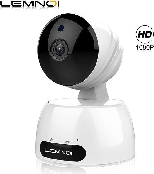 Lemnoi Cámara IP 1080P HD WiFi Cámara de vigilancia, Audio ...