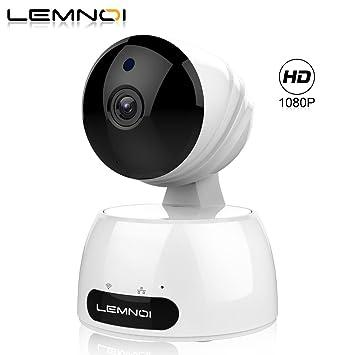 Lemnoi Cámara IP 1080P HD WiFi Cámara de vigilancia, Audio bidireccional, Sensor de Movimiento