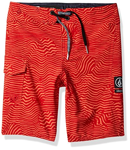 Volcom Trunk - Volcom Baby Little Boys' Magnetic Stone Youth Boardshort, Toffee, 7