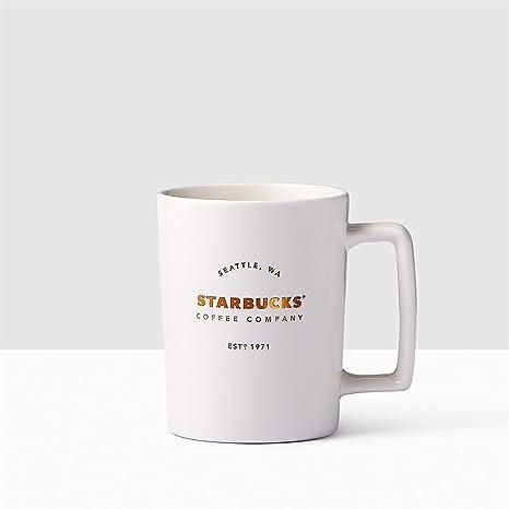 d192704803d Amazon.com: Starbucks Seattle Matte White Handle Coffee Mug, 16 fl oz.:  Kitchen & Dining