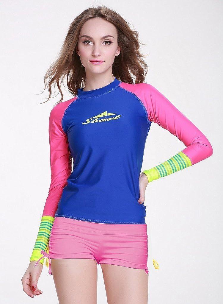 Yuson Girl Costumi da Bagno Donna Pantaloni Regolabile Costume a Pantaloncino da NuotoTraspirante Pantaloncini da Surfe