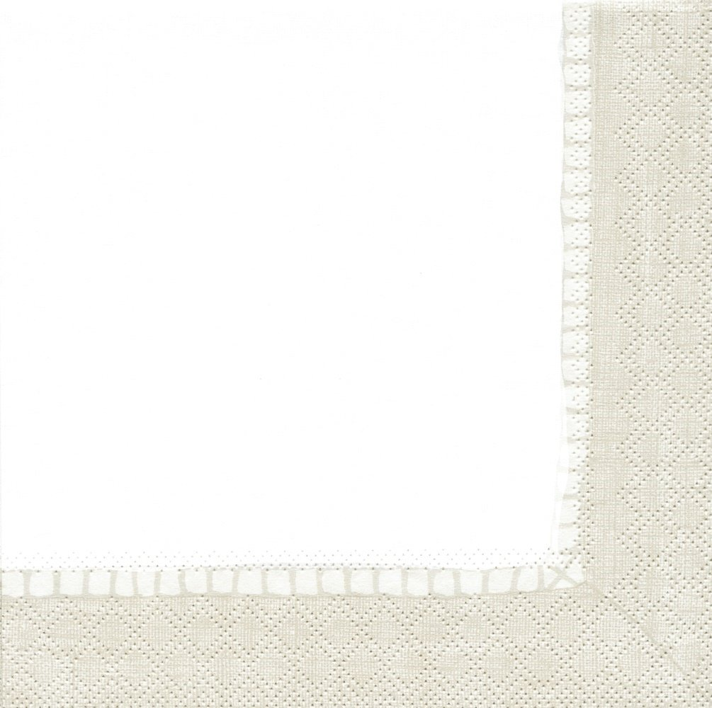 Entertaining with Caspari Linen Natural, Cocktail Napkin, Pack of 20