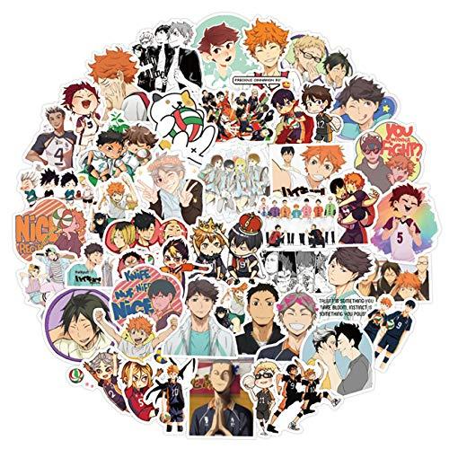 Anime Haikyuu Stickers 100pcs Waterproof Vinyl for Kids Teens...