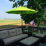 Sumbel Outdoor Living 10 FT Round Market Patio Umbrella with Push Button Tilt and Crank Lift, Lime Green
