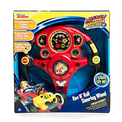 Roadster Racers MP3 Smart Wheel with Stream Catcher Technology, Light up Display Motion Reactive Steering Wheel, Sound Effects and Audio Hook up ()
