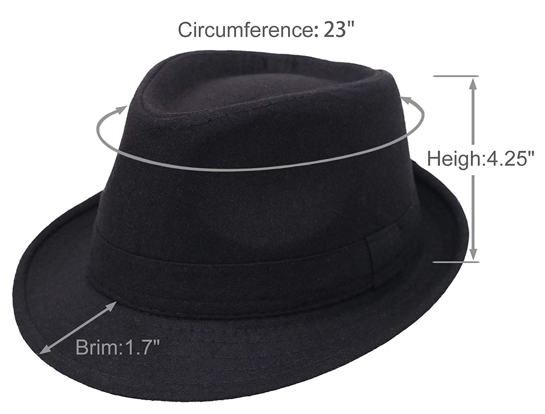 6a3519471cb Amazon.com: Fedora Hats for Men Unisex Manhattan Black Fedora: Sports &  Outdoors