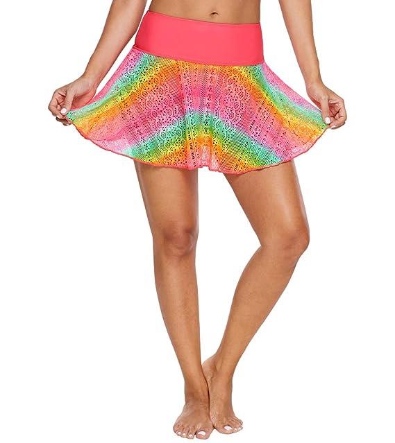 vendita calda online 335fc c847c Lau's Costume Donna Gonnellina, Gonna da Bagno con Slip ...