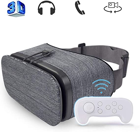 Mobile VR, Audio Visual Integración Experiencia de inmersión VR Spree Universal Gafas de Realidad Virtual Soft & VR anteojos de Ojos Azules cómodo Nuevo 3D,Negro: Amazon.es: Hogar