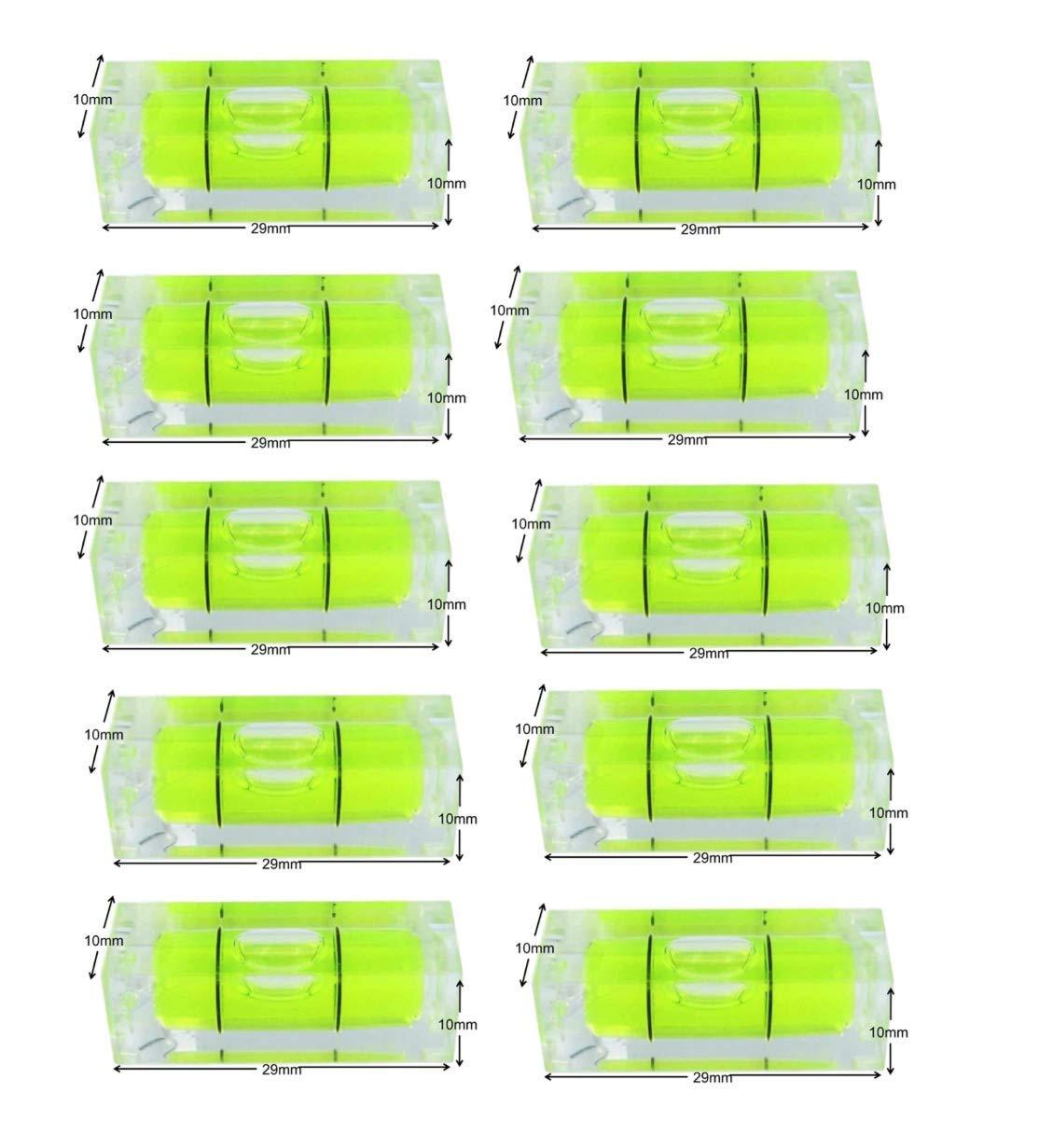 10x10x29mm Green Color Mini Spirit Level Bubble Spirit Level Square Level Frame 2