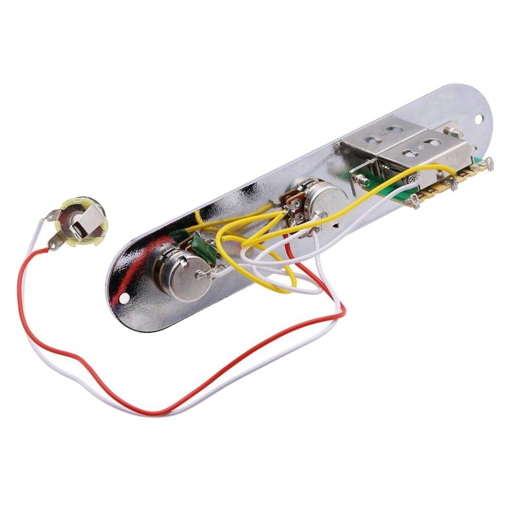 MagiDeal Control plate 3-Wege-Steuerplatte für TL Telecaster E-Gitarre