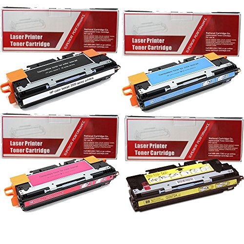 National Cartridge CO. Replacement Toner Cartridge 4-pak {c,m,y,k} for use in HP Color Laserjet 3500 and 3800 series (3800 Series Color Laser Printers)