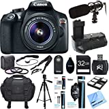 Canon EOS Rebel T6 Digital SLR Camera w/ EF-S 18-55mm Lens Deluxe Bundle includes Camera, Lens, Shotgun Microphone, Bag, Tripod, Battery, Filter Kit, 32GB Memory Card, Beach Camera Cloth and More