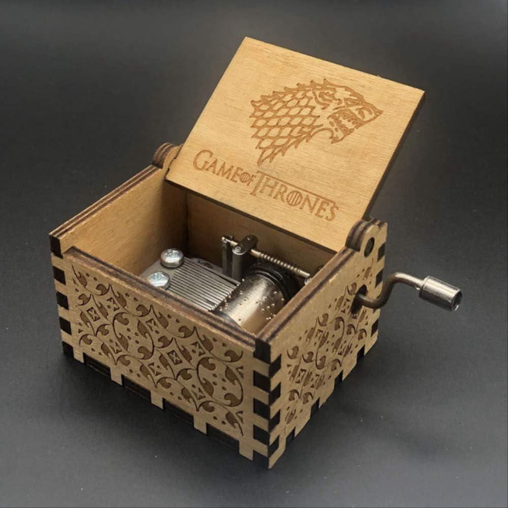 LYXL Caja Musica Niña Queen Music Box Castle In The Sky Juego De Tronos Star Wars Music Box Regalo De Cumpleaños Tallado Mango De Madera2 Game of Thrones: Amazon.es: Hogar