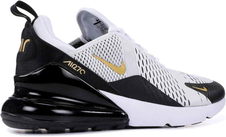| Nike Men's Air Max 270 WhiteBlackGold AV7892
