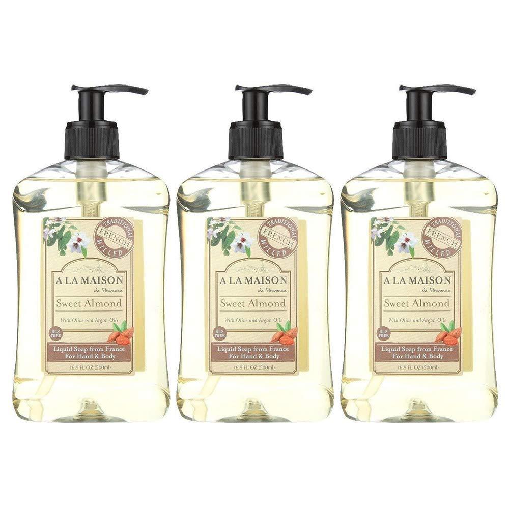 A La Maison Liquid Soap Sweet Almond 16.9 Fl Oz (Pack of 3)