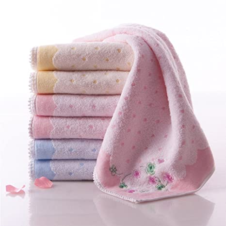 hoomy Pure algodón Toallas de cara de para las niñas de microfibra bordado toalla absorción de
