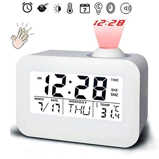 FCS Bedroom Despertador Proyector Techo Reloj Despertador ...