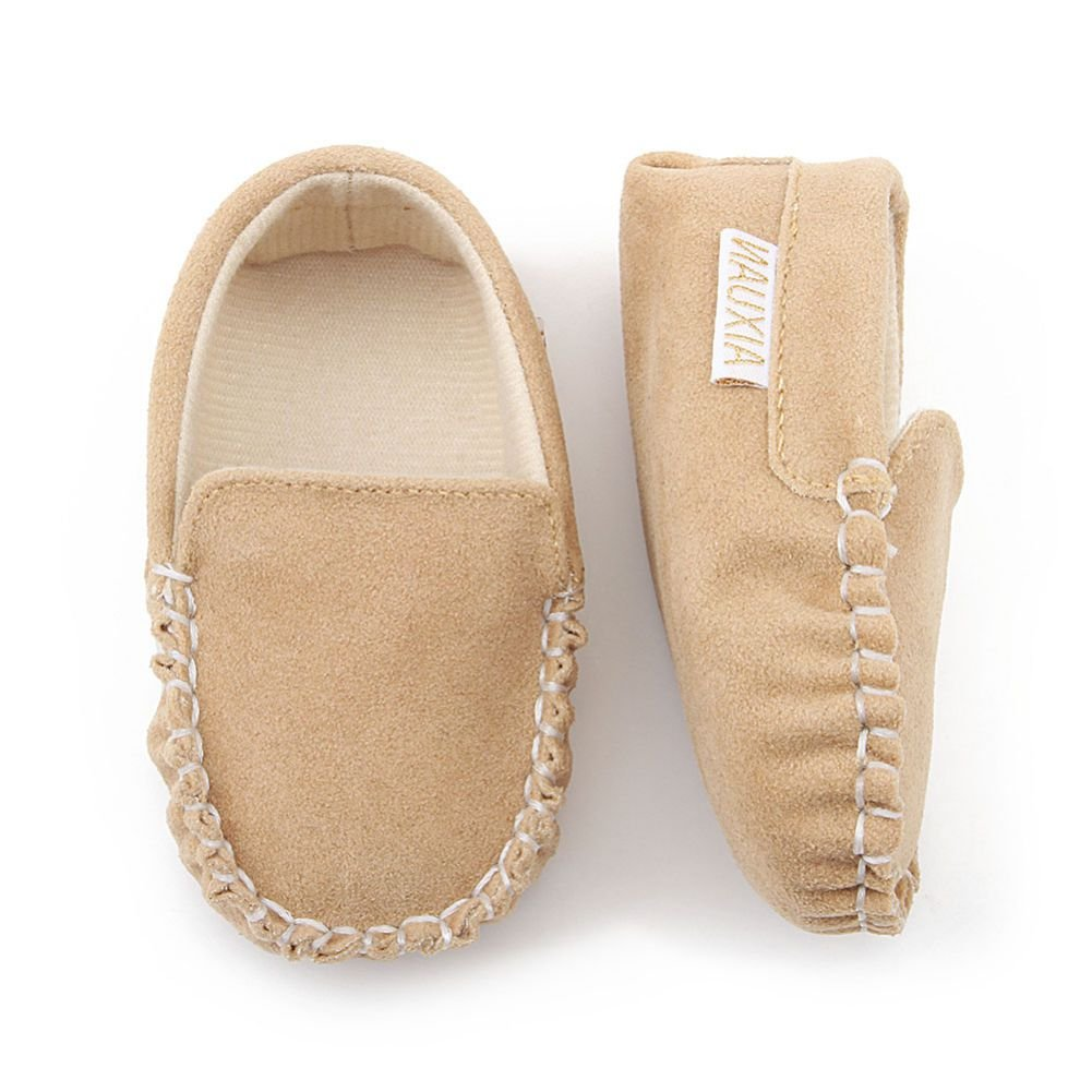 Weixinbuy Baby Boys Girls Soft Sole Slip-On Loafer Crib Shoes First Walkers
