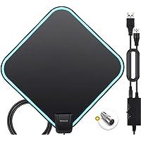 TV Antenna, HAMSWAN 2020 Newest HDTV Indoor Digital Amplified TV Antennas 200+ Miles Range with Amplifier TV Signals…