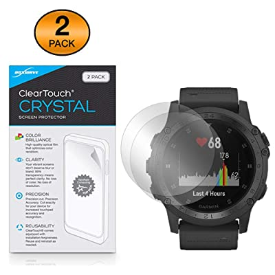 Garmin Tactix Charlie Screen Protector, BoxWave [ClearTouch Crystal (2-Pack)] HD Film Skin - Shields from Scratches for Garmin Tactix Charlie