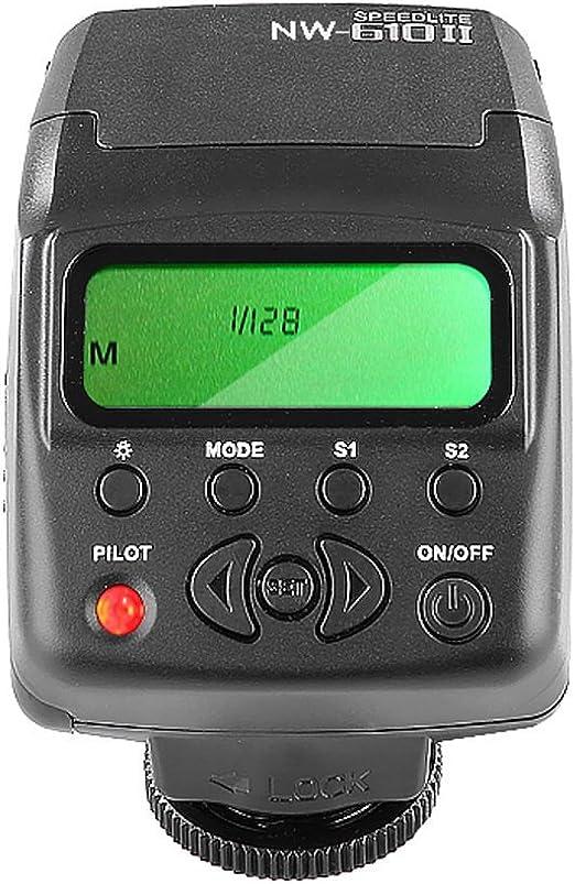 Neewer® nw-610ii Mini Pantalla LCD Flash en la cámara Speedlite ...