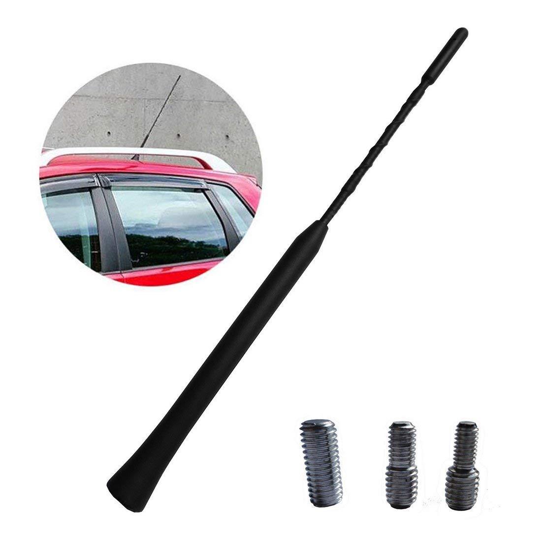 Antenne universelle de voiture de 16 pouces AM//FM de voiture antenne de toit flexible de m/ât en spirale anti-bruit r/ésistant au signal radio de signal radio